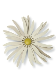 Foreside Cream Metal Flower - Product Mini Image