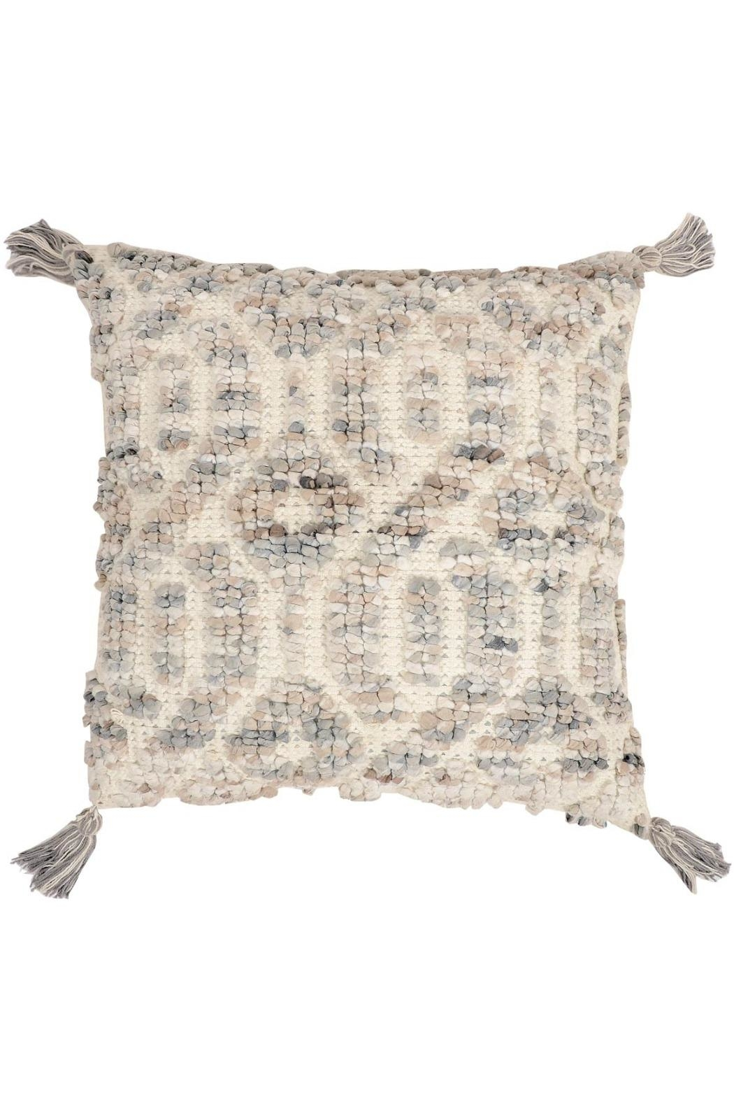 Foreside Hand Woven Pillow - Front Cropped Image