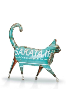 Shoptiques Product: Recycled Metal Cat