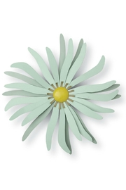 Foreside Seafoam Metal Flower - Front cropped
