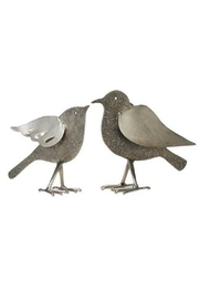 Foreside Silver Etched Birds - Front cropped