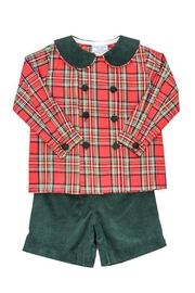Bailey Boys Forest Corduroy/tartan-Plaid Dressy-Short-Set - Other