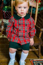 Bailey Boys Forest Corduroy/tartan-Plaid Dressy-Short-Set - Front full body