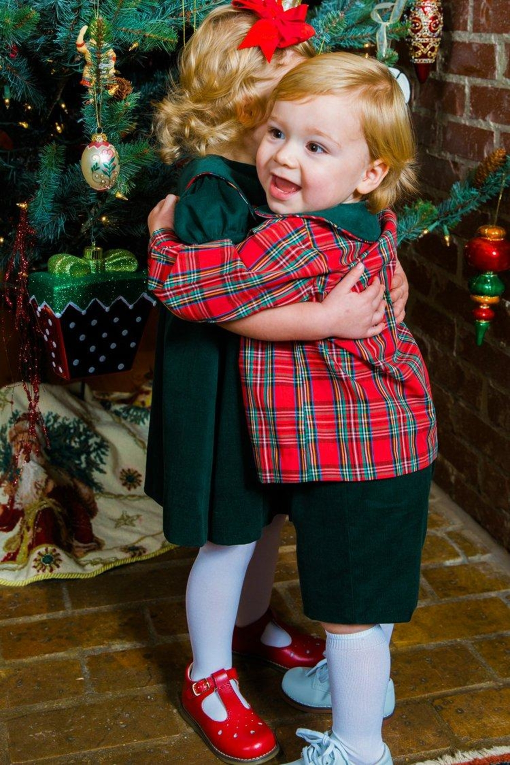 Bailey Boys Forest Corduroy/tartan-Plaid Dressy-Short-Set - Side Cropped Image