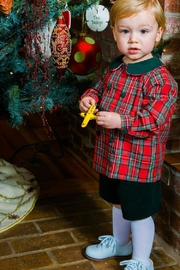 Bailey Boys Forest Corduroy/tartan-Plaid Dressy-Short-Set - Back cropped