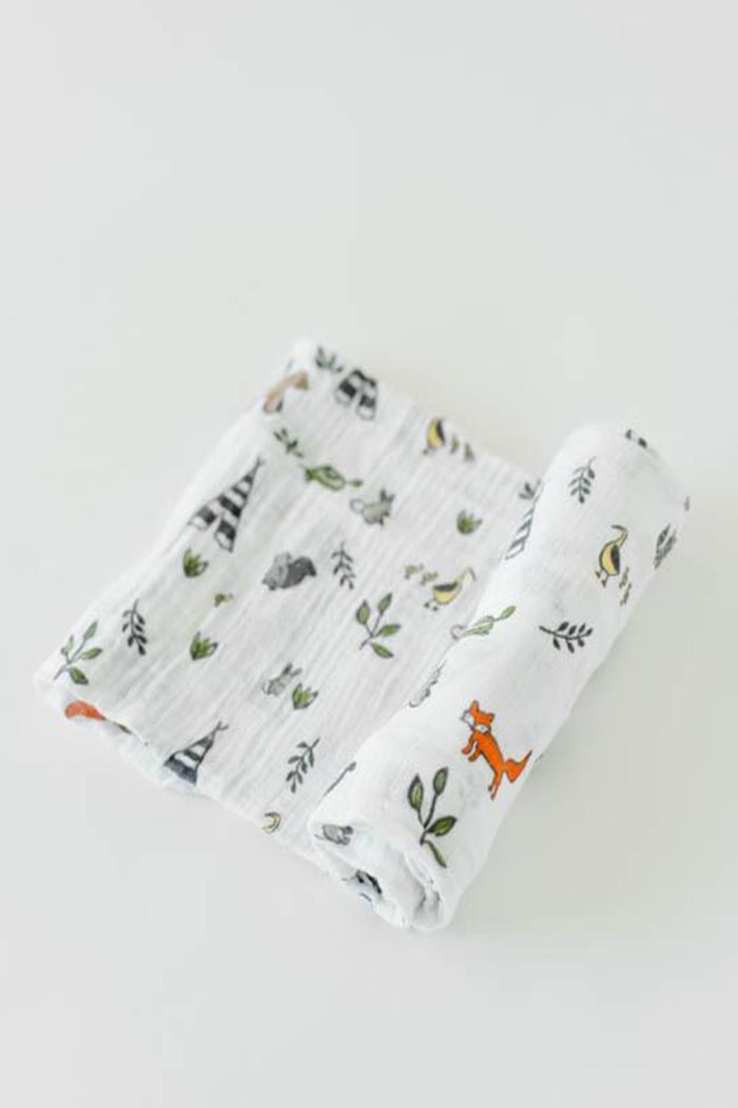 Little Unicorn Forest-Friends Swaddle Blanket - Front Cropped Image