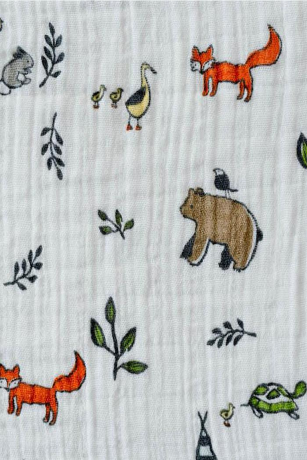 Little Unicorn Forest-Friends Swaddle Blanket - Side Cropped Image