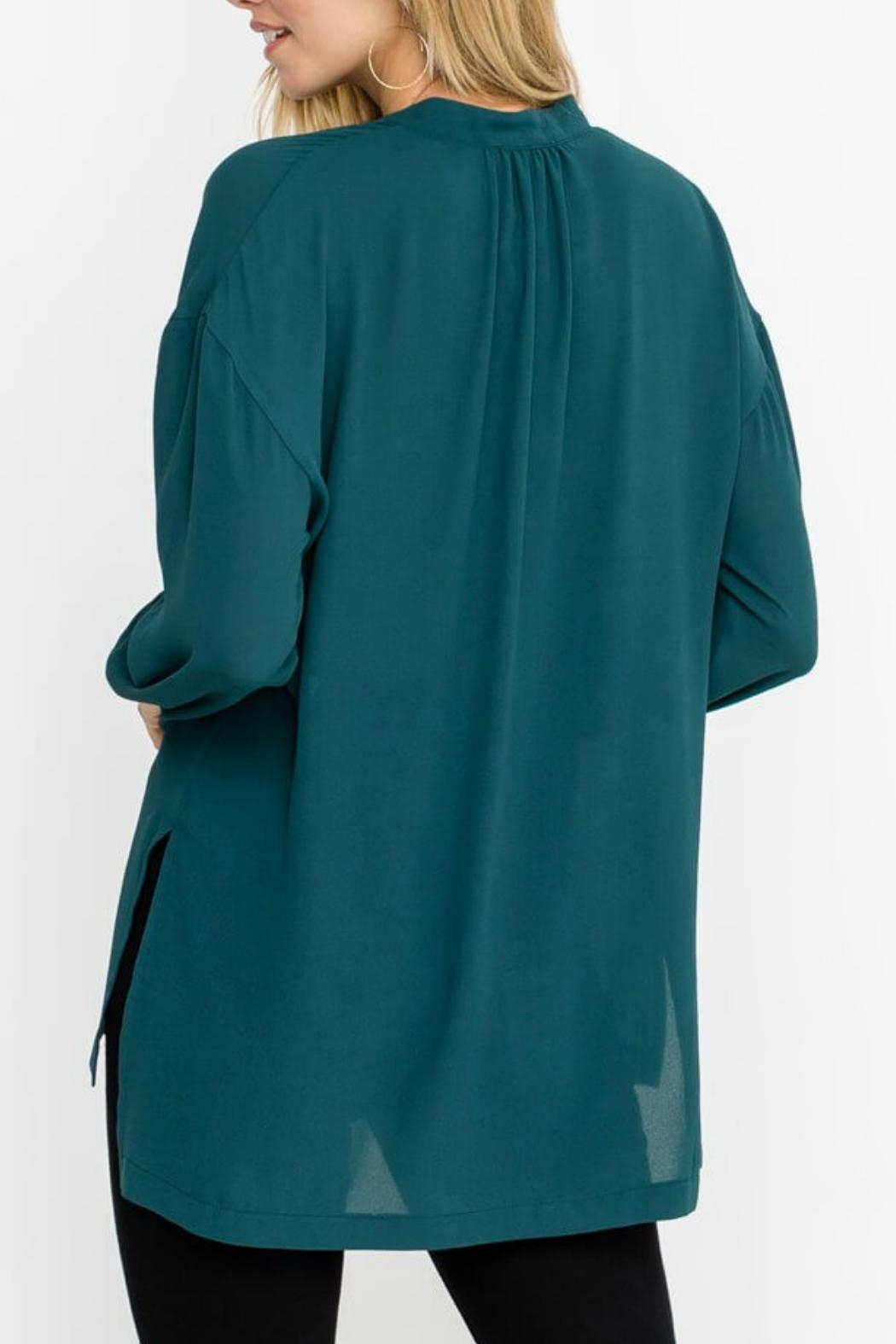 Lush Forest Green Blouse - Front Full Image