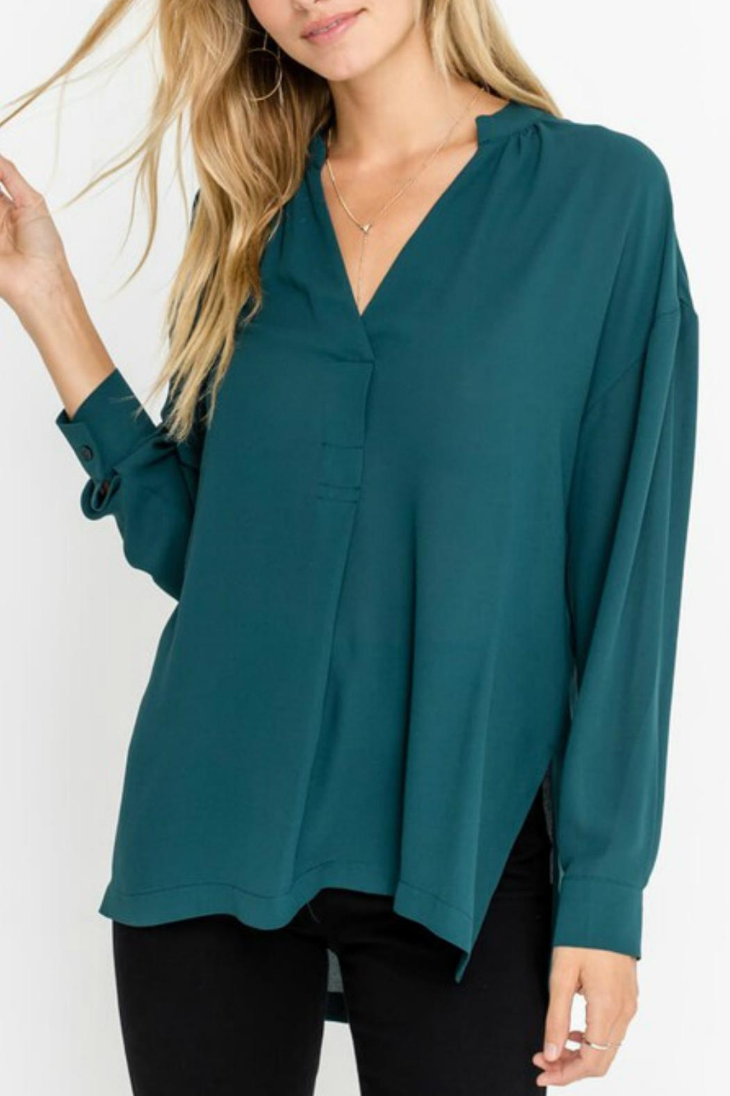 Lush Forest Green Blouse - Main Image