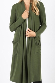 Zenana Outfitters Forest Green Cardigan - Product Mini Image
