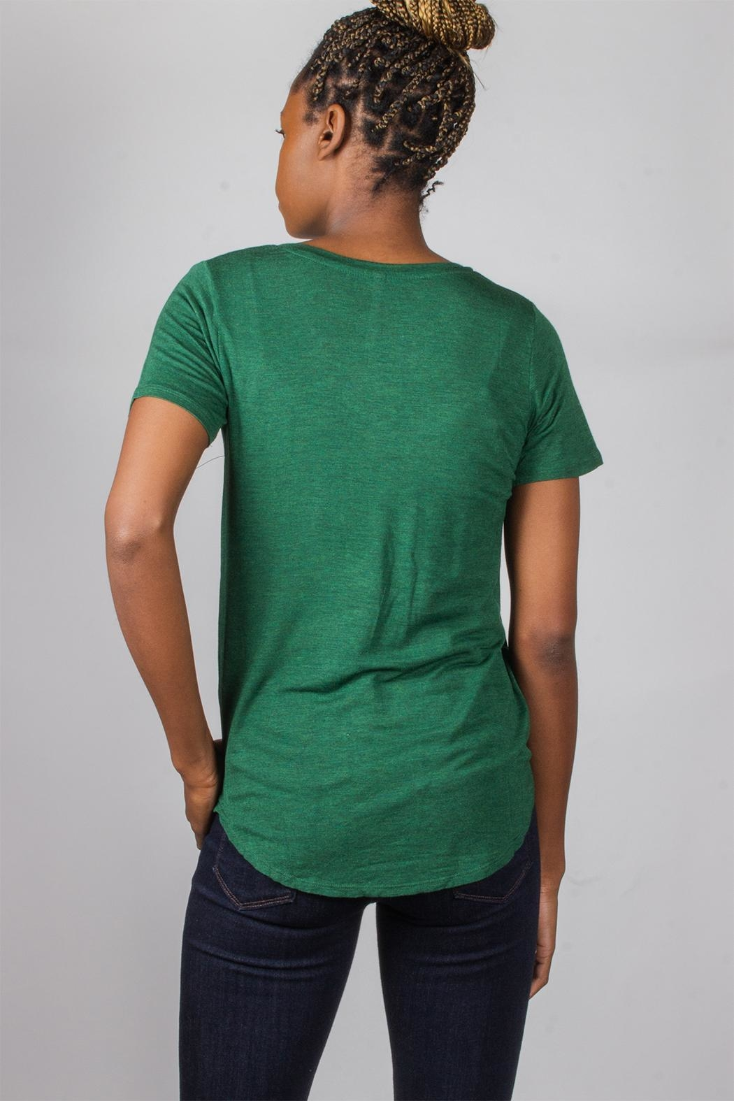 Tresics Forest-Green Everyday Tee - Back Cropped Image