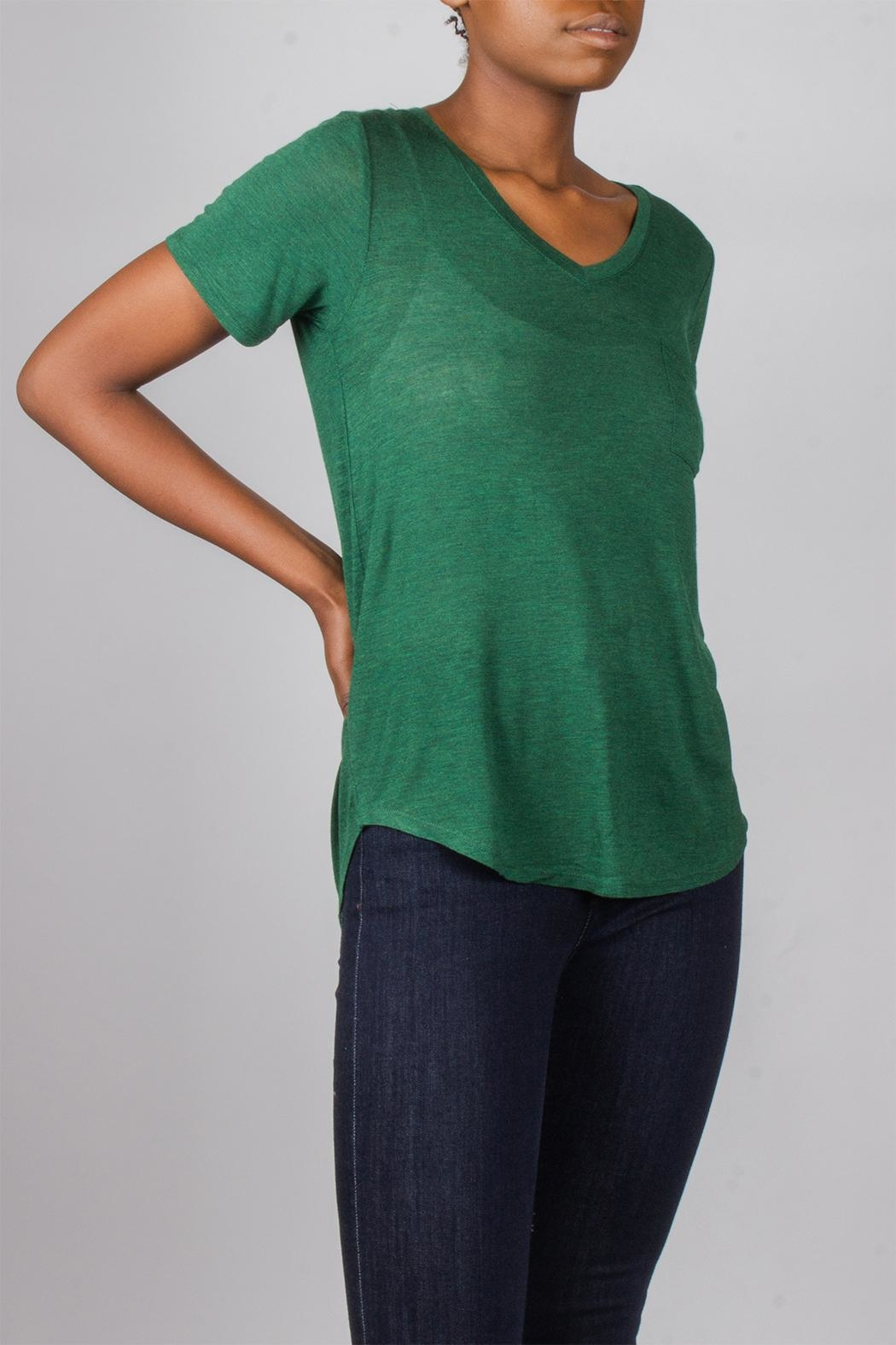 Tresics Forest-Green Everyday Tee - Side Cropped Image