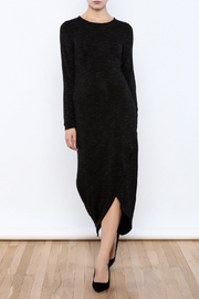 Forest Lily Black Terry Long Dress - Product Mini Image