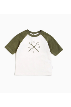 Shoptiques Product: Forest Terrycloth Raglan Tee