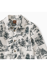 Tea Collection Forest Toile Button Shirt - Front full body