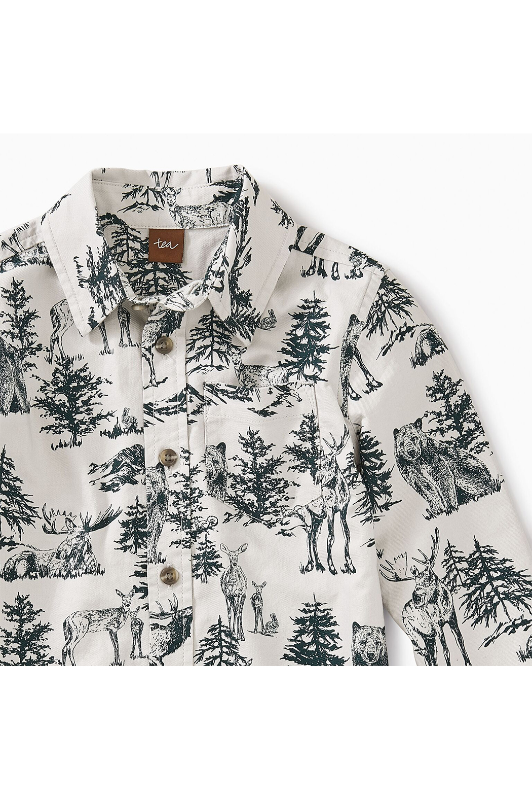 Tea Collection Forest Toile Button Shirt - Front Full Image