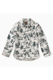 Tea Collection Forest Toile Button Shirt - Front cropped