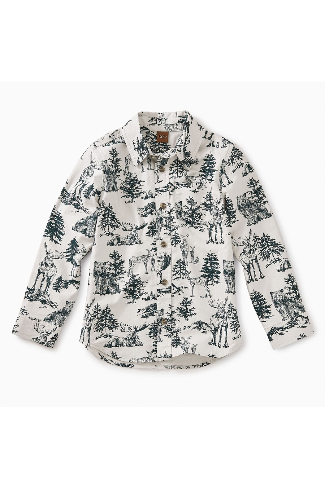 Tea Collection Forest Toile Button Shirt - Main Image