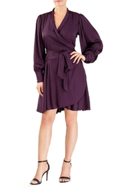 Forest Lily Satin Wrap Dress - Product Mini Image