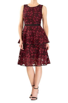 Forest Lily Tiered Lace Dress - Product List Image