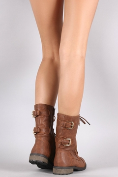 Forever Brown Combat Boots - Alternate List Image