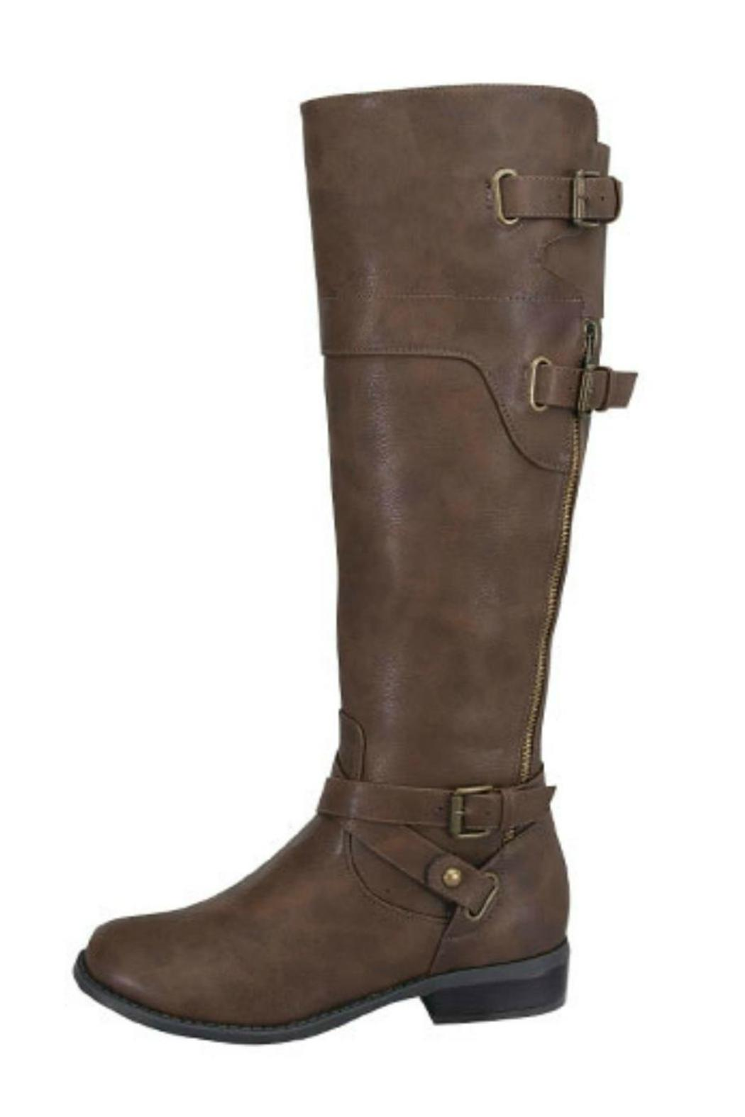 Forever Buckled Riding Boot - Front Cropped Image