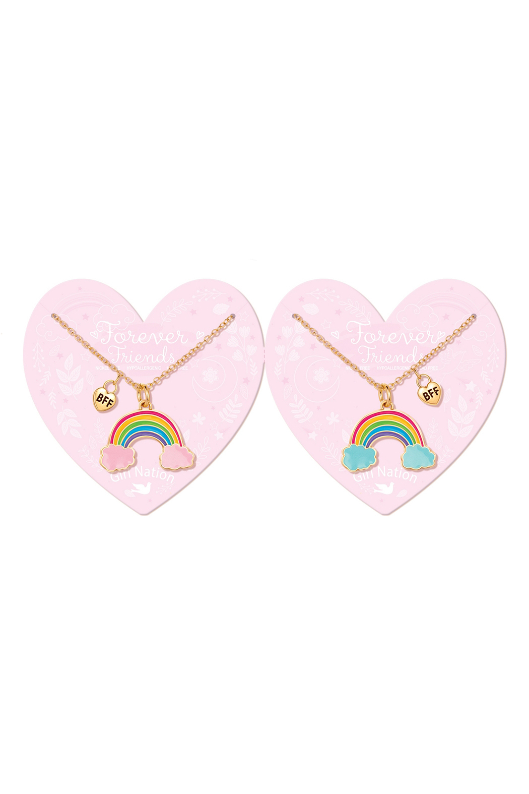 Girl Nation  Forever Friends Rainbow Necklaces - Main Image
