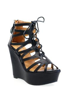 Shoptiques Product: Lace Caged Wedge