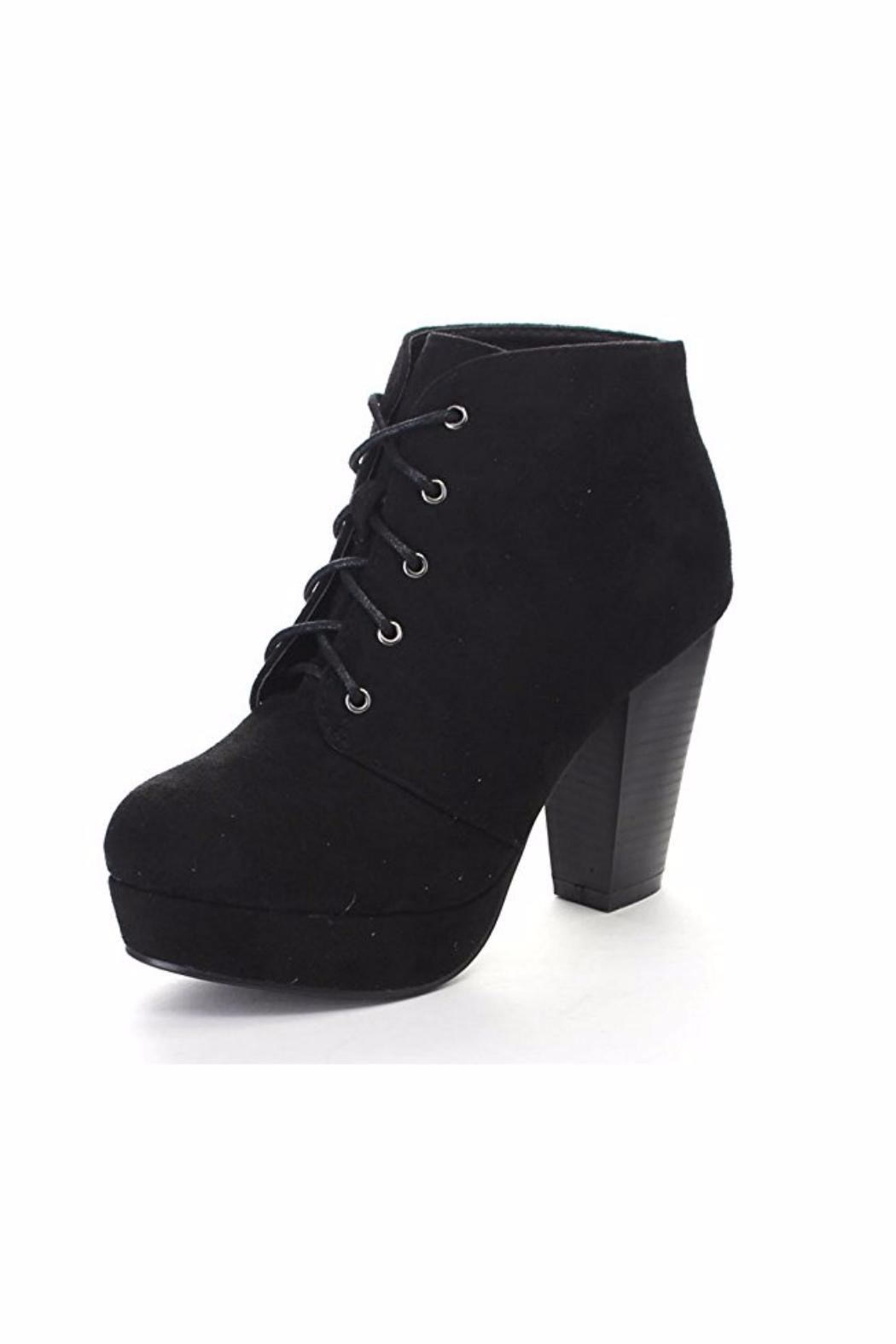 Forever Lace-Up Ankle Booties - Main Image
