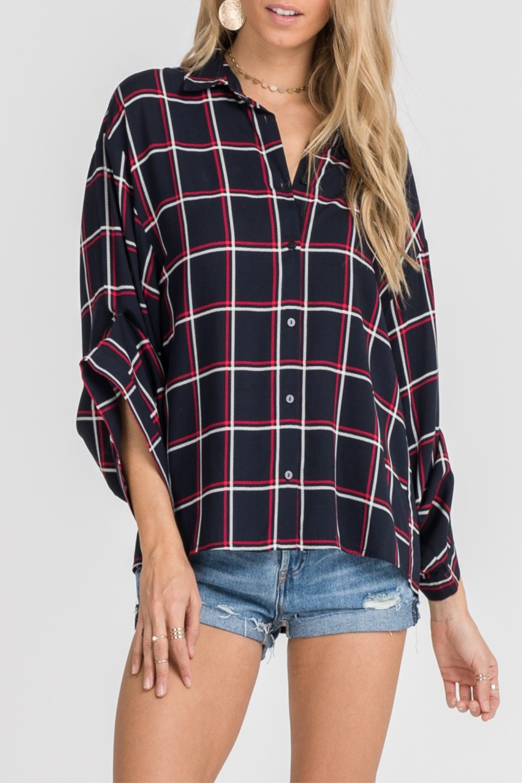 Lush Forever Plaid - Front Cropped Image