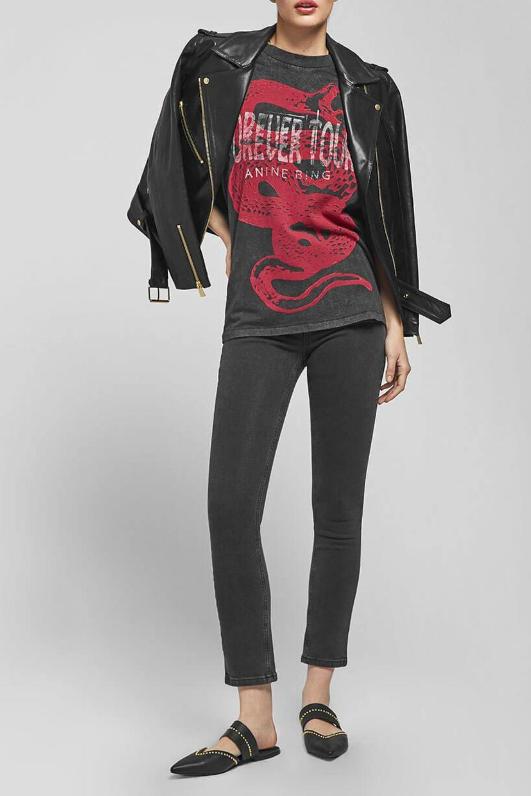 Anine Bing Forever Tee - Back Cropped Image