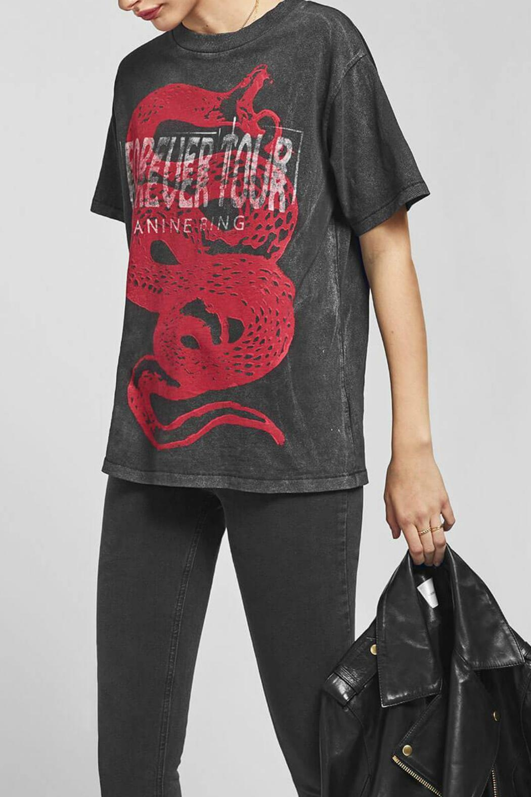 Anine Bing Forever Tee - Side Cropped Image