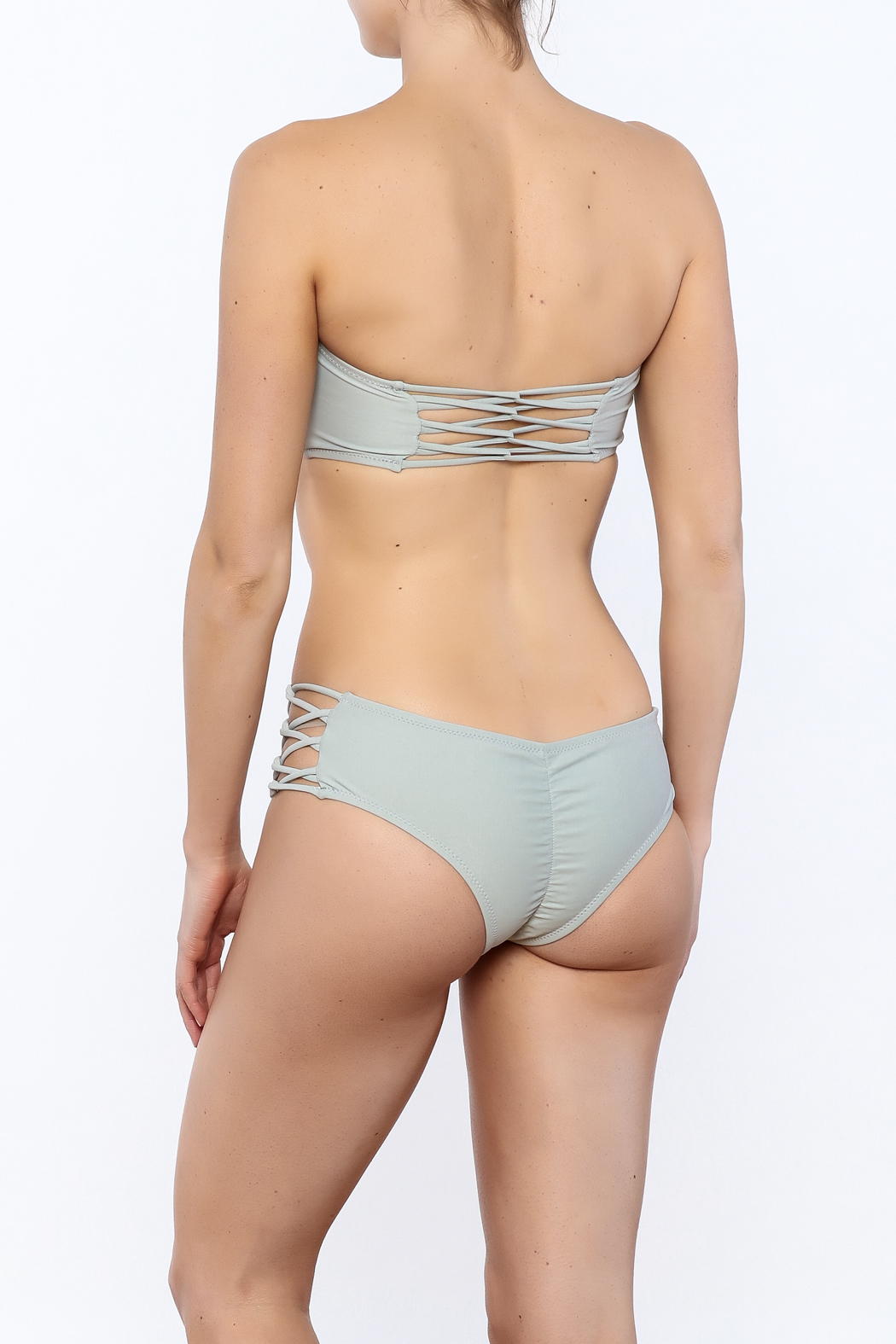 Forever Young Swimwear Strappy Bandeau Bikini Top - Back Cropped Image