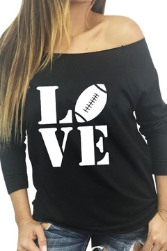 Shoptiques Product: Footall Love Top
