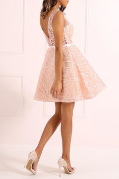 Forever Unique Blush Sequined Dress - Alternate List Image