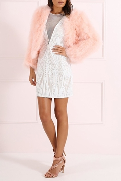 Forever Unique Feather Cropped Jacket - Product List Image