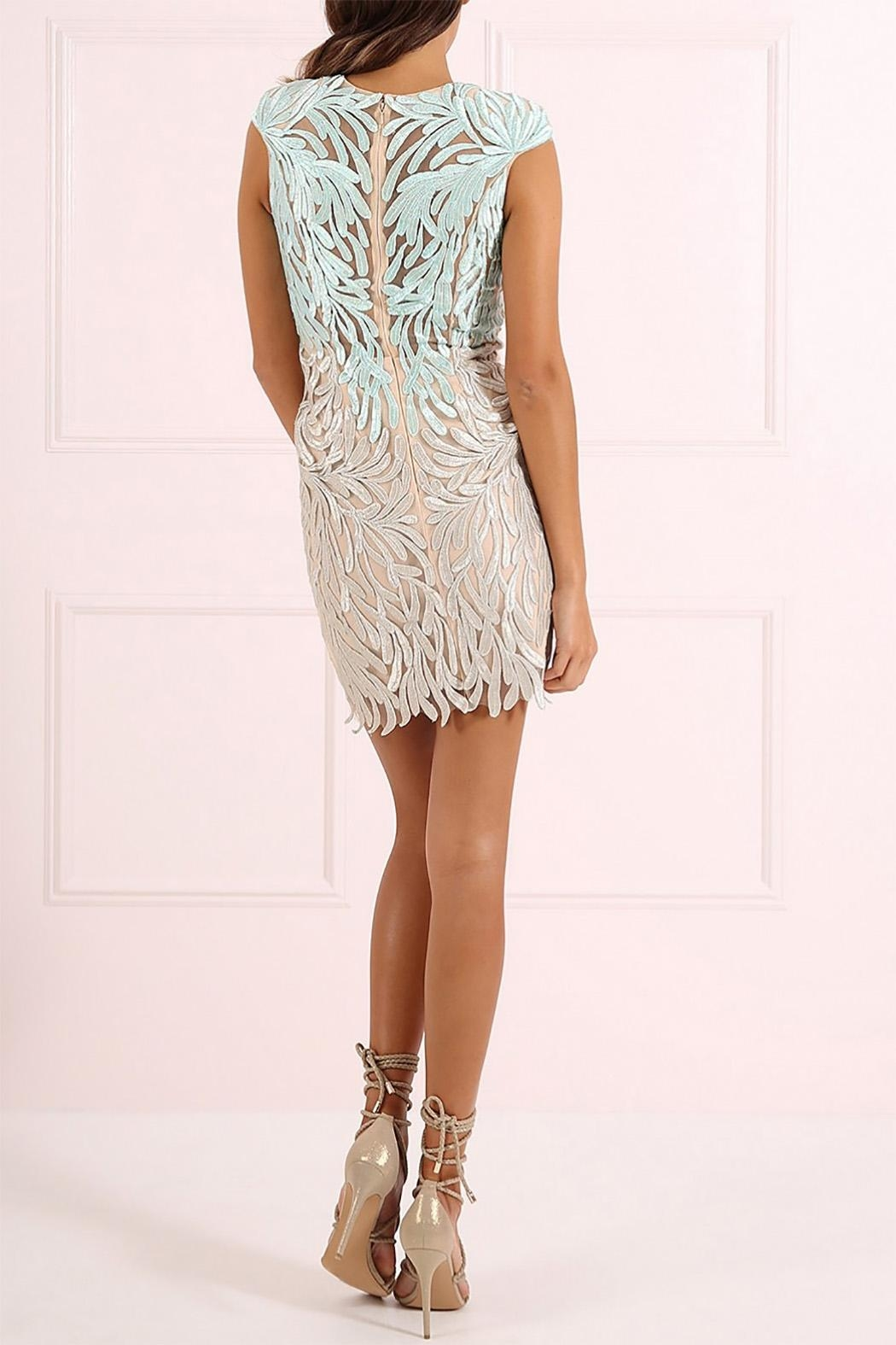 Forever Unique Two Tone Lace Dress - Front Full Image