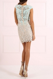 Forever Unique Two Tone Lace Dress - Front full body