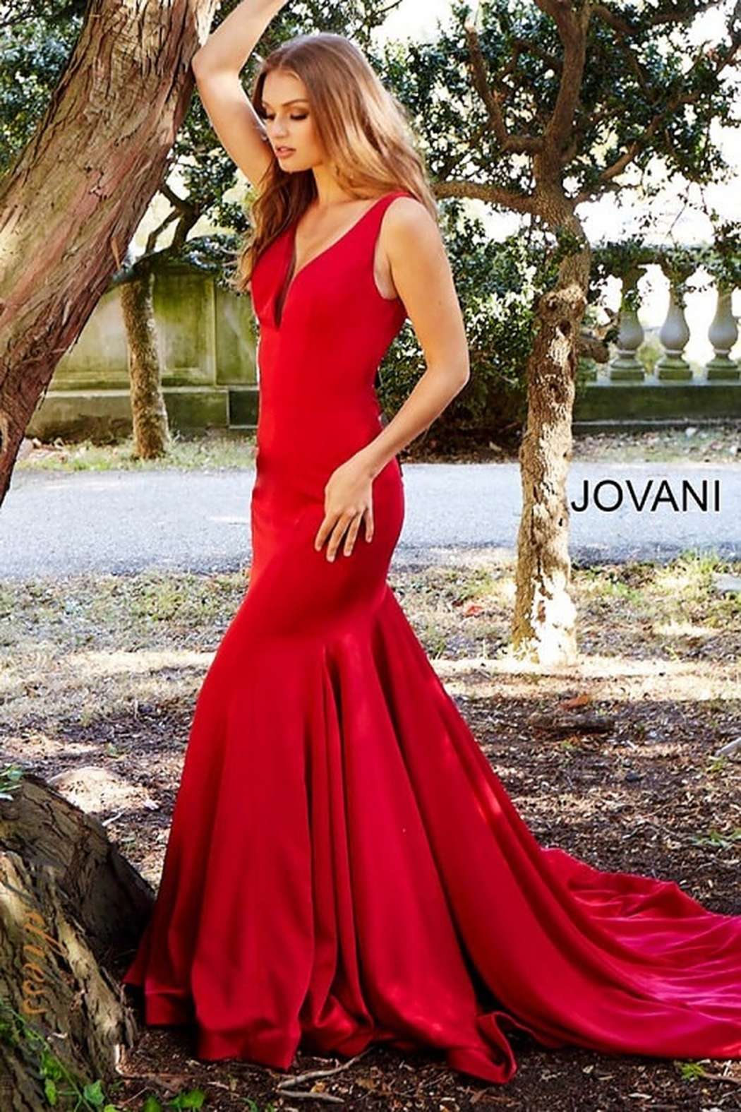Jovani Form Fitting Gown - Side Cropped Image