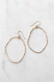 Token Jewelry Form Hoop Earrings - Product Mini Image