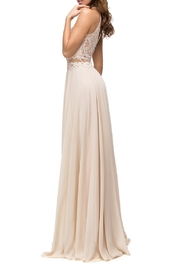 DANCING QUEEN Formal Dress in Champagne - Front cropped