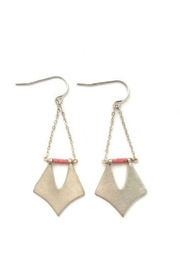 Chocolate and Steel Formation Collection – Pennant Earrings - Product Mini Image