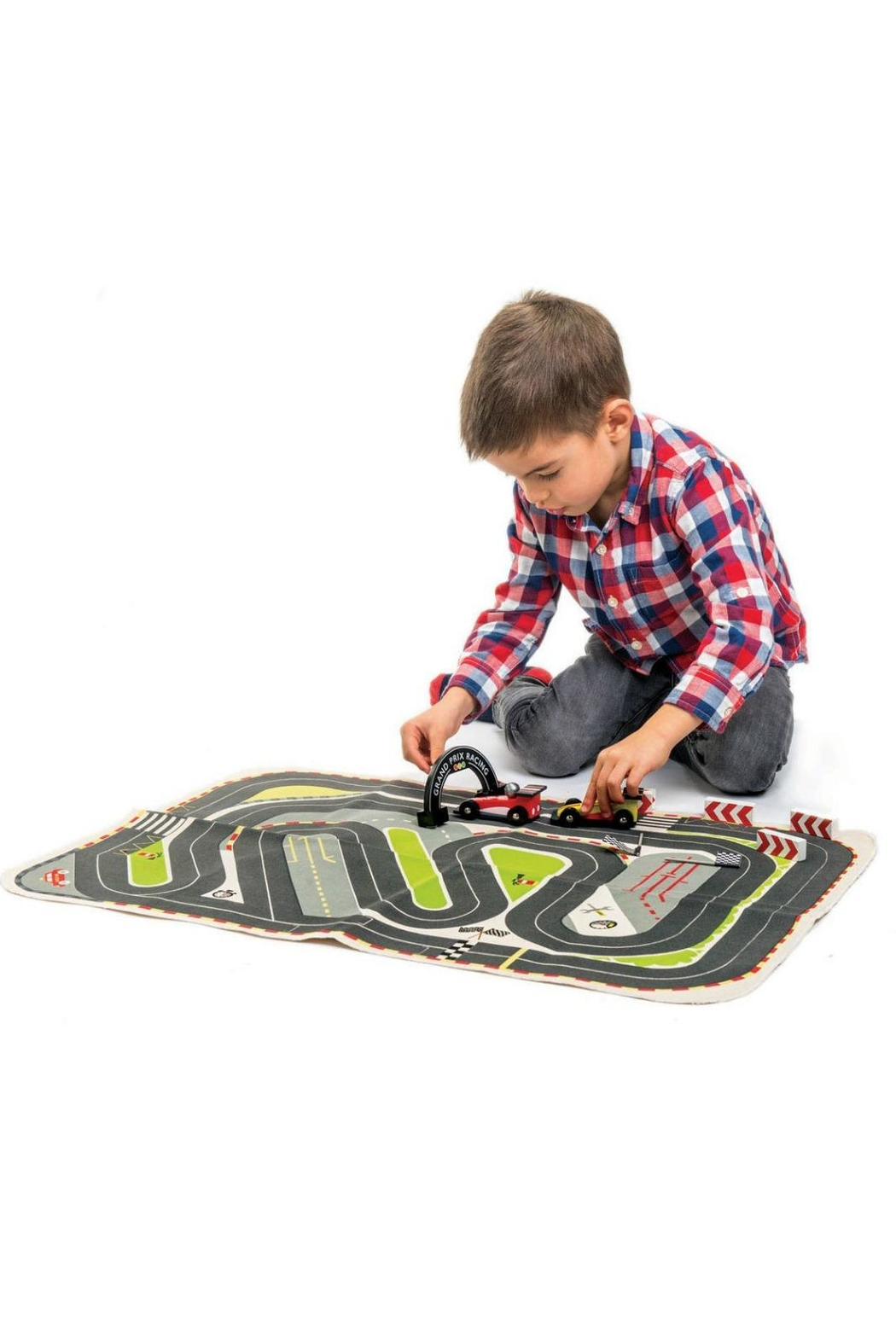 Tender Leaf Toys Formula One Playmat - Side Cropped Image
