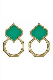Fornash Bamboo Spade Earrings - Front cropped