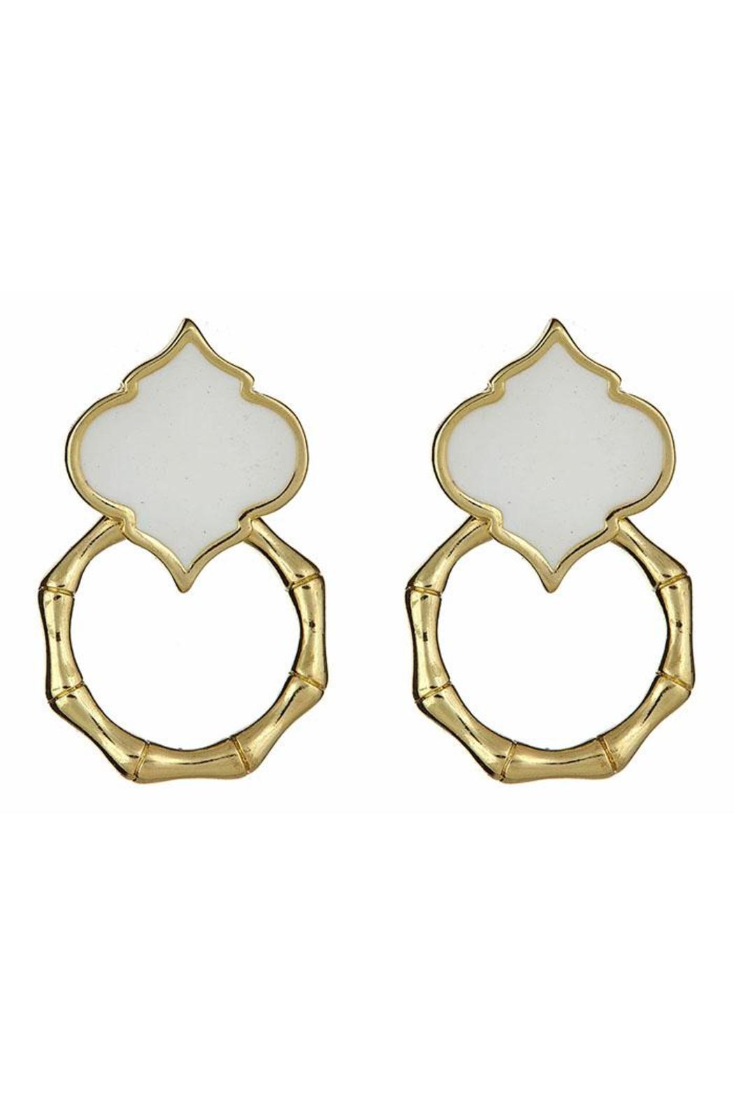 Fornash Bamboo Spade Earrings - Front Cropped Image