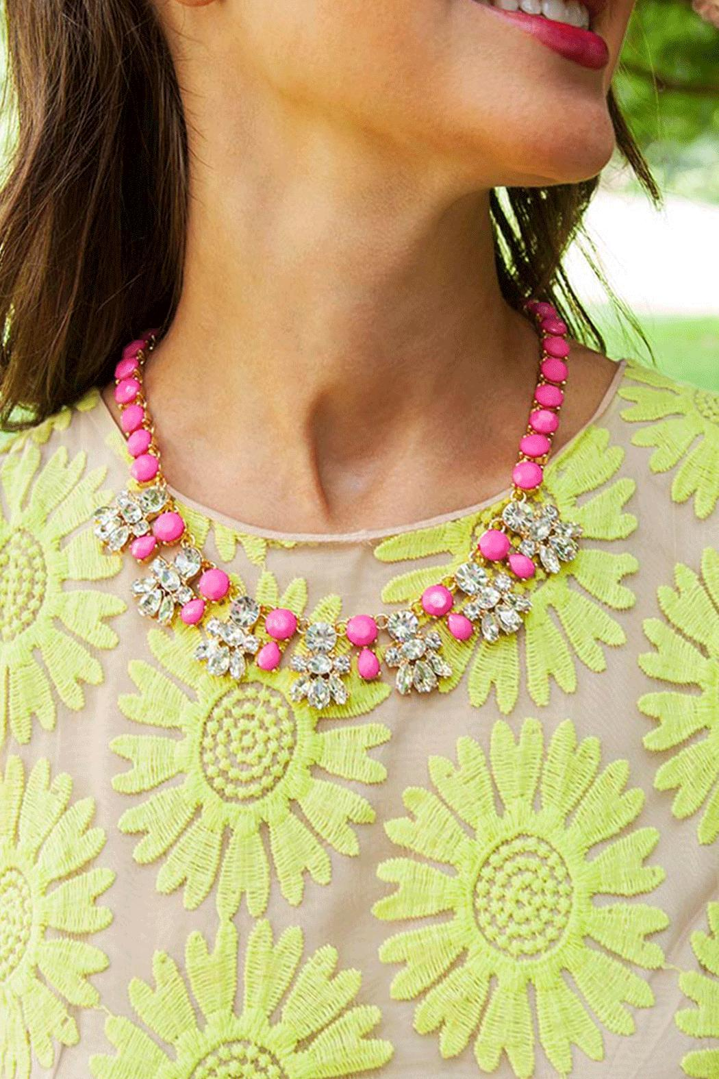 Fornash Bubblegum Pink Necklace - Front Cropped Image