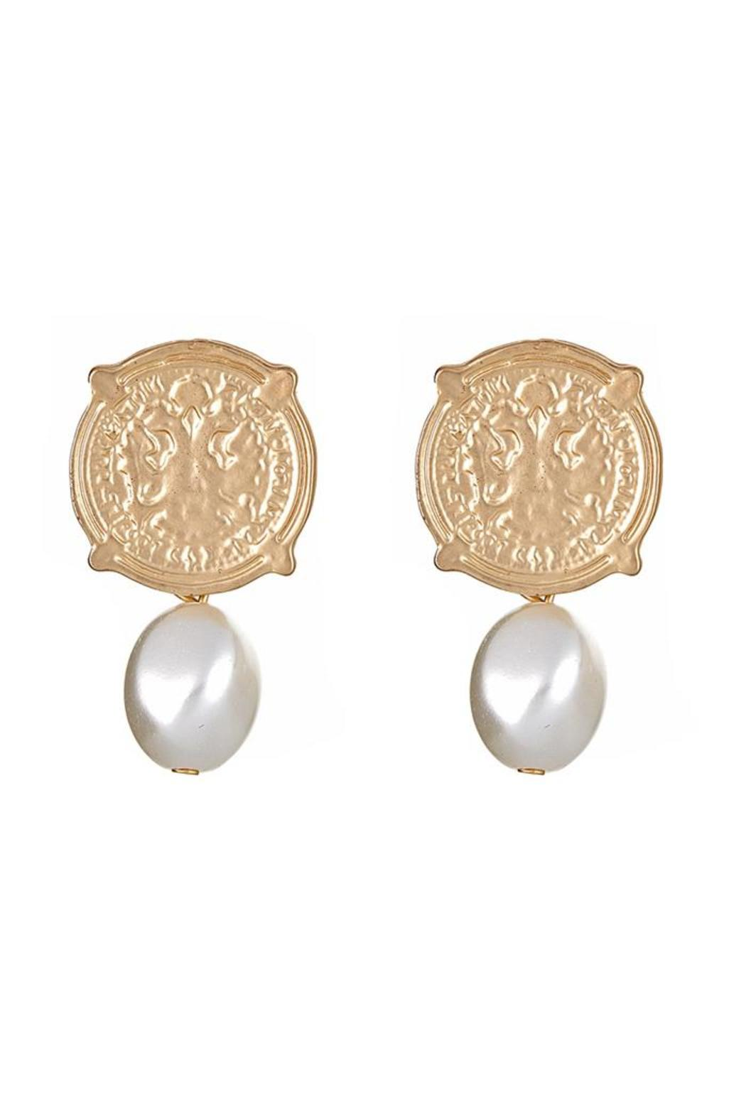 Fornash Calypso Coin Earrings Front Cropped Image