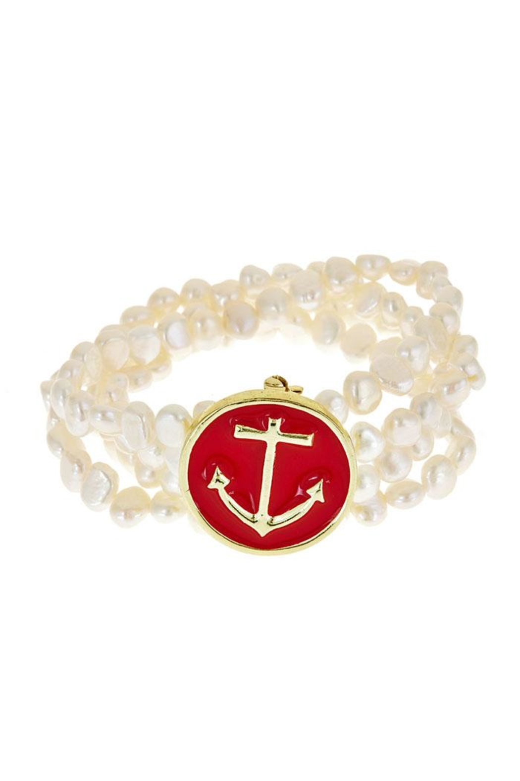 Fornash Freshwaterpearl Anchor Bracelet - Main Image