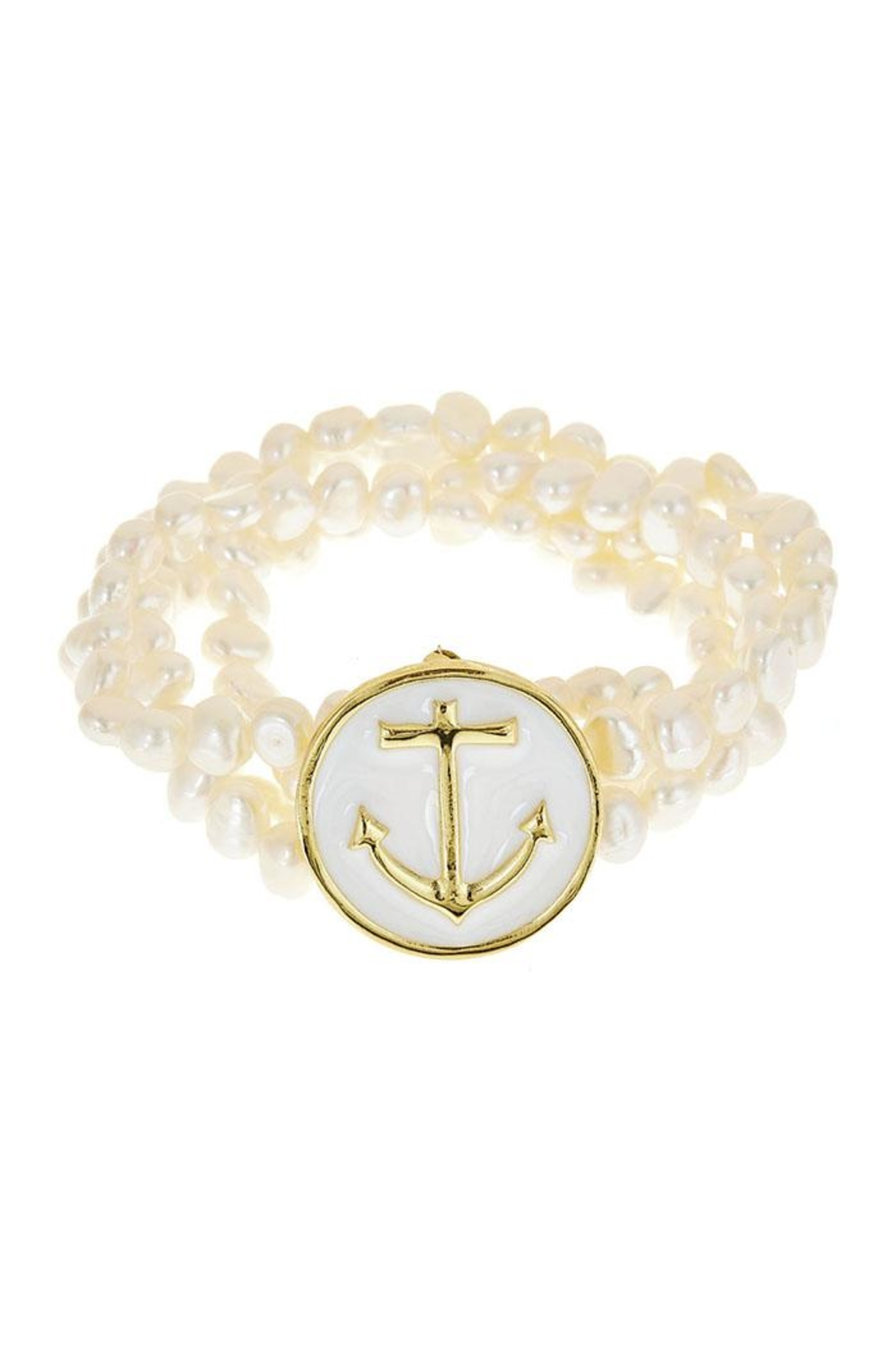 Fornash Freshwaterpearl Anchor Bracelet - Front Cropped Image