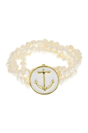 Fornash Freshwaterpearl Anchor Bracelet - Front cropped